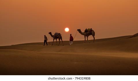 Khuri sand Dunes, Jaisalmer,Rajasthan,india