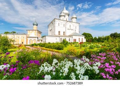 Khutyn Monastery of Saviour's Transfiguration and of St. Varlaam near Veliky Novgorod, Russia