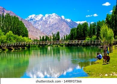 Khyber Pakhtunkhaw: The most beautiful lulusar lake northern area province of khyber pakhtunkhaw, Pakistan dated: 30/06/2019.