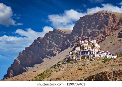 Ki Gompa (also spelled Key, Kye or Kee) is a Tibetan Buddhist monastery - the biggest monastery of Spiti Valley. Spiti Valley, Himachal Pradesh, India
