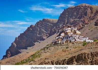 Ki Gompa (also spelled Key, Kye or Kee) is a Tibetan Buddhist monastery - the biggest monastery of Spiti Valley.  Spiti Valley, Himachal Pradesh, India