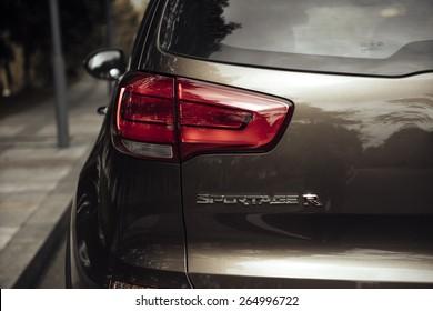 Kia SportageR 2015 Rear light closeup