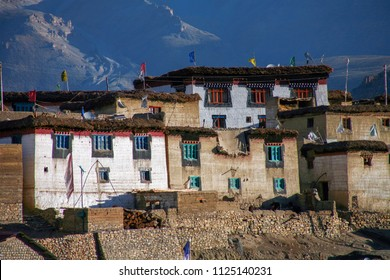 Kibber village, One of the world's highest villages located in the cold desert of the Tibetan region in the Himalayas.
