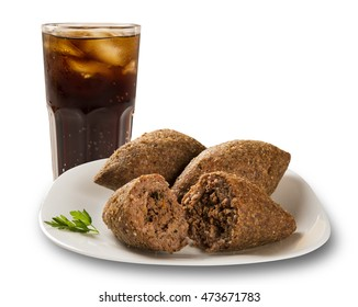 Kibe roast with cola. Brazilian snack.