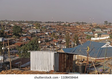 Kibera biggest slum in Africa Nairobi Kenya