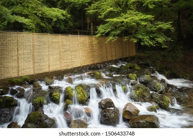 Kibune river long exposure photography, shot in Kyoto, Japan.