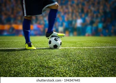 Kick the soccer ball