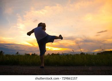 Kick  , Sunset time