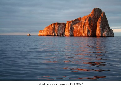 Kicker Rock at Sunset - Galapagos Islands