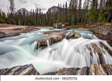Kicking Horse Cascades at Natural Bridge in Yoho National Park, British Columbia, Canada