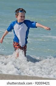 Kicking the waves