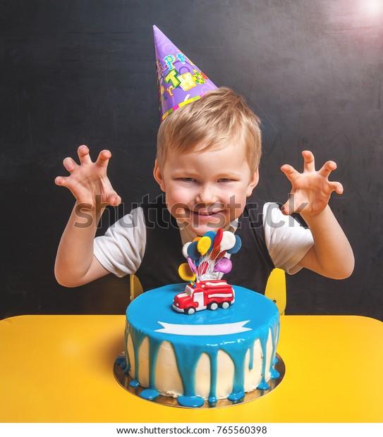 Swell Kid Birthday Cake Toy Fire Engine Stock Photo Edit Now 765560398 Personalised Birthday Cards Akebfashionlily Jamesorg