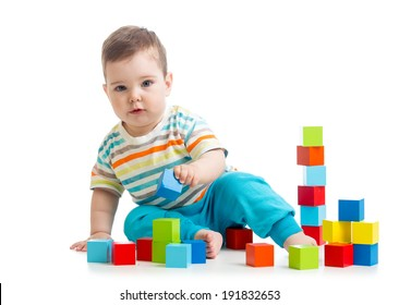 kid boy building block toys