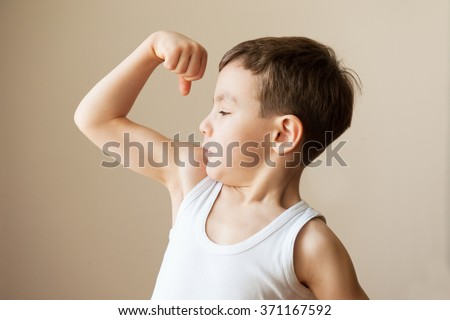kid boy child showing