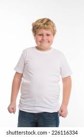 kid child studio boy portrait on white