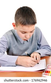 Kid Drawing Isolated on the White Background