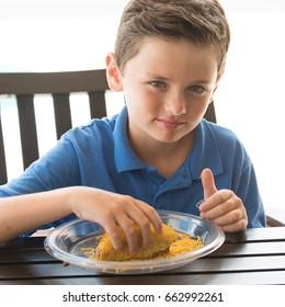 Kid Eating Taco