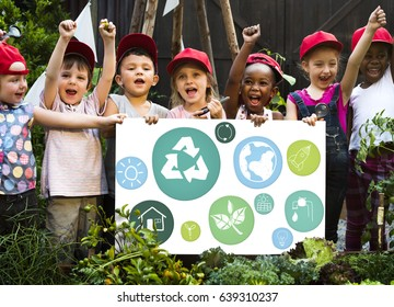 Kid and environment education concept