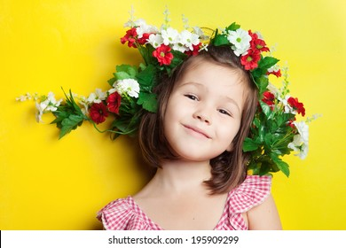 Kid in a flower crown