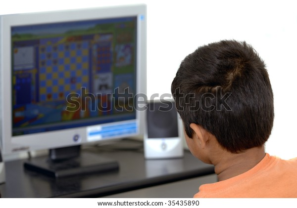 Kid getting addicted to computer games easily