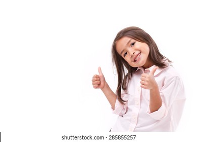 kid giving two thumbs up
