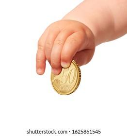 Kid invest money. Saving money for future.