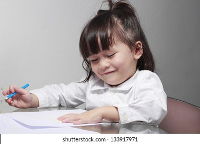 Kid learn to drawing