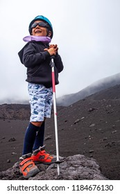 Kid on the Etna, Sicily, Italy