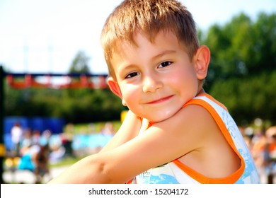 Kid on a recreation area