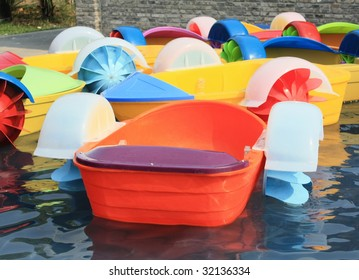 Kid paddle boat, colorful