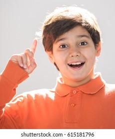 Kid posing