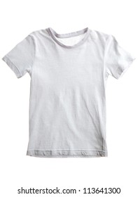kid white t-shirt isolated on white