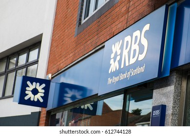 Kidderminster, UK - March 2017: Royal Bank of Scotland branch in Kidderminster, England.