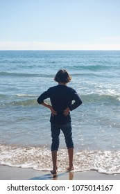 kids against mediterranean sea