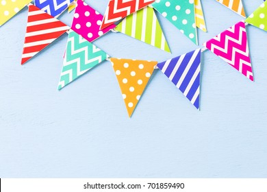 Kids Birthday Party decorations in primary colors.