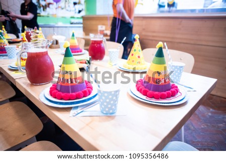 Kids Birthday Table Decoration Elegant Is Ready For The Childrens Holiday Attributes
