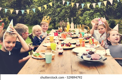 Kids Celebration Party Happiness Concept