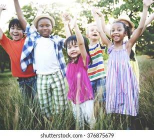 Kids Children Fun Playing Happiness Togetherness Concept