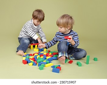 Kids, children, sharing, playing nicely together, teamwork and cooperation concept