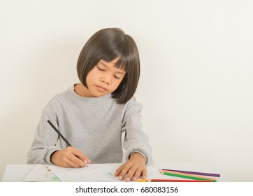 Kids with coloring