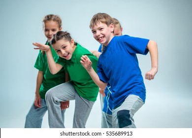 The kids dance school, ballet, hiphop, street, funky and modern dancers. Sublings day.