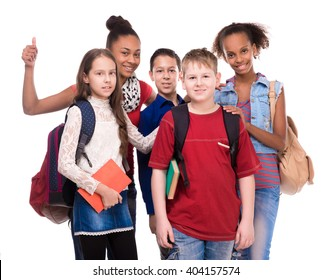 kids with different complexion and clothes