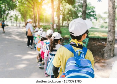 kids education in public park