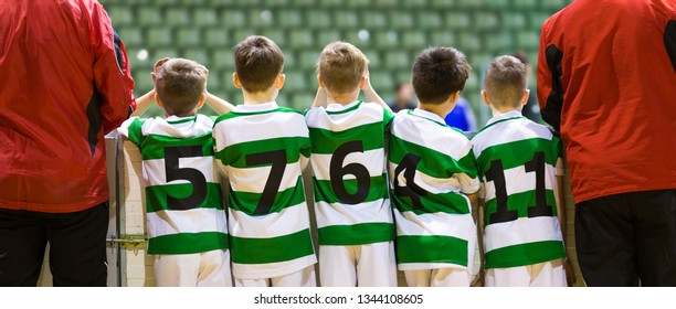b5101166d11 Group Kids Indoor Soccer Team Supporting Stock Photo (Edit Now ...