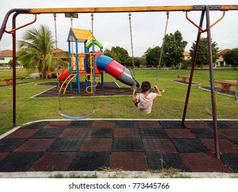 kids happiness playing in playground