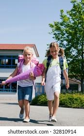 kids having fun at school