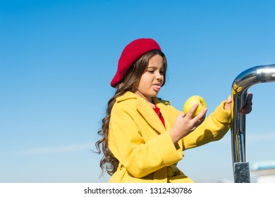 Kids health and nutrition. Healthy snacking benefits. Snack between lunch and dinner. Having snack. Good nutrition essential good health. Kid girl eat apple fruit. Healthy diet. Snack while walk.