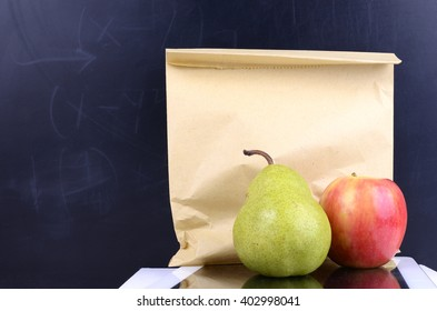 Kids Healthy Lunch Inside a Brown Paper Bag
