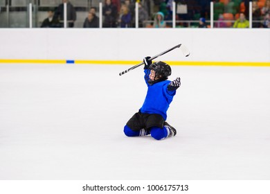 Kids ice hockey.