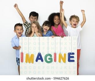 Kids Imagine Concept